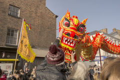 Liverpool Chinese New Year - Staring you out Stock Images