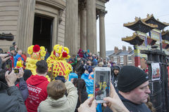 Liverpool Chinese New Year Street Parade Stock Photography