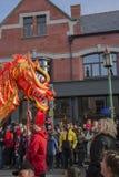 Liverpool-Chinesisches Neujahrsfest - heraus anstarrend Sie Lizenzfreies Stockfoto