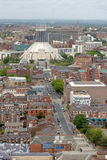Liverpool City Centre Aerial Royalty Free Stock Photography