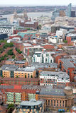 Liverpool City Centre Skyline Aerial Royalty Free Stock Photo