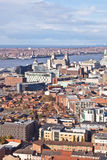 Liverpool City Centre Aerial Royalty Free Stock Images