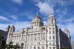 Liverpool city centre - Three Graces, buildings Stock Photo
