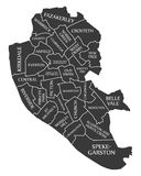 Liverpool city map England UK labelled black illustration. Liverpool city map England UK labelled black Stock Images