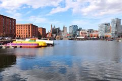 Liverpool. City in Merseyside county of North West England (UK). Salthouse Dock, part of UNESCO World Heritage Site Royalty Free Stock Photography