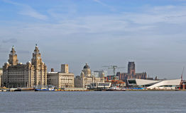 Liverpool City Skyline Royalty Free Stock Photography