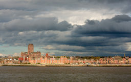 Liverpool City Storm Clouds Skyline   Royalty Free Stock Photography