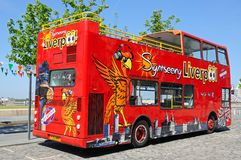 Liverpool City Tour Bus. Stock Photo