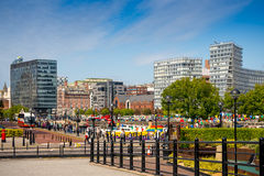 Liverpool city. With a view on a buildings Royalty Free Stock Photos