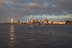 Liverpool City View at dusk Stock Image