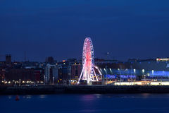 Liverpool City View ferris wheel Royalty Free Stock Photography