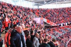 Liverpool contre d'Everton fa de cuvette la finale 2012 semi Image stock