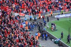 Liverpool contre d'Everton fa de cuvette la finale 2012 semi Photos stock
