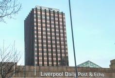 Liverpool dagligt stolpe och eko Royaltyfri Fotografi