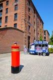 Liverpool den speciala stolpeasken Royaltyfri Bild