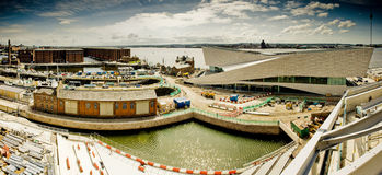 Liverpool-Dockgebäude im Bau Lizenzfreies Stockbild