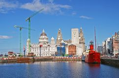 Liverpool-Docks Lizenzfreies Stockbild