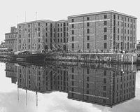 Liverpool docks in hdr Royalty Free Stock Photography