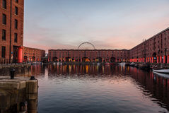 Liverpool Docks with Reflections Royalty Free Stock Images