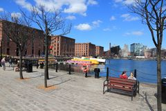 Liverpool docks Royalty Free Stock Images