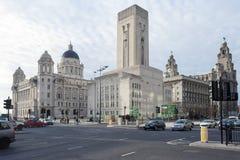 Liverpool drei Umgangsformen Stockbild