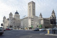 Liverpool Drie vereert Stock Afbeelding