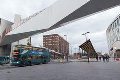 Liverpool en bussstation Royaltyfria Foton