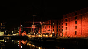 Liverpool. England, Albert Dock, Museum Of , River, Aerial View Royalty Free Stock Photos