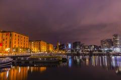 Liverpool, England at night