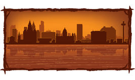 Liverpool England skyline Stock Images