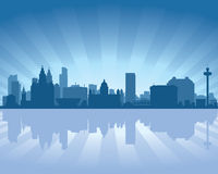 Liverpool England skyline Royalty Free Stock Photos