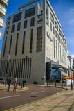 Liverpool Förenade kungariket - Februari 24, 2014: Malmaison hotell i Liverpool Royaltyfria Foton