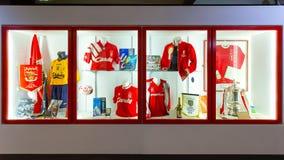 Liverpool FC opowieść muzeum Liverpool FC w UK Obraz Stock