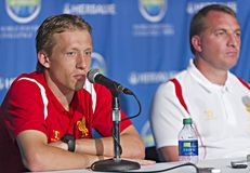 Liverpool FC Press Conference Stock Photography