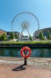 Liverpool Ferris Wheel Großbritannien Stockfotografie