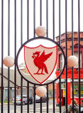Liverpool football club crest, Liverpool, UK