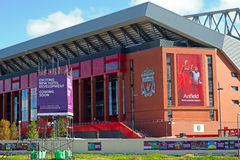 Liverpool Football Club's new £114 million stand nearing completion Royalty Free Stock Photo