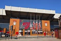 Liverpool futbolu klubu stadium. Fotografia Stock