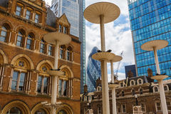 Liverpool gatastation i London, UK Fotografering för Bildbyråer