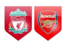 Liverpool gegen Arsenal Stockbilder