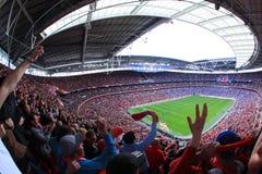 Liverpool gegen Everton Fa-Cup-halb Schluss 2012 stockfoto