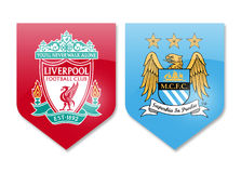 Liverpool gegen Manchester City Lizenzfreie Stockfotografie