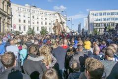 Liverpool Giants - città di cultura 2018 fotografie stock libere da diritti