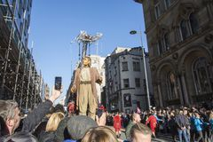 Liverpool Giants - City of Culture 2018 stock image