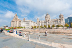 Liverpool Harbour Panorama Royalty Free Stock Photo