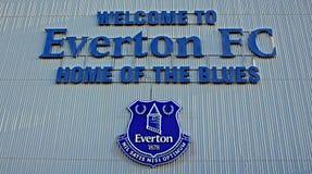 LIVERPOOL HET UK 8TH JANUARI 2016 Het Stadion van het Goodisonpark, huis van Ev Stock Afbeeldingen