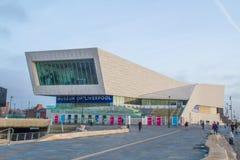 Liverpool, het Verenigd Koninkrijk - Februari 24, 2014: Museum van Liverpool stock foto