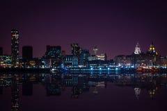 Liverpool horisont arkivfoto