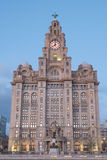 Liverpool Iconic Building, the Royal Liver Building Stock Photo
