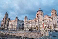 Liverpool Iconic Buildings, the Three Graces Stock Photos